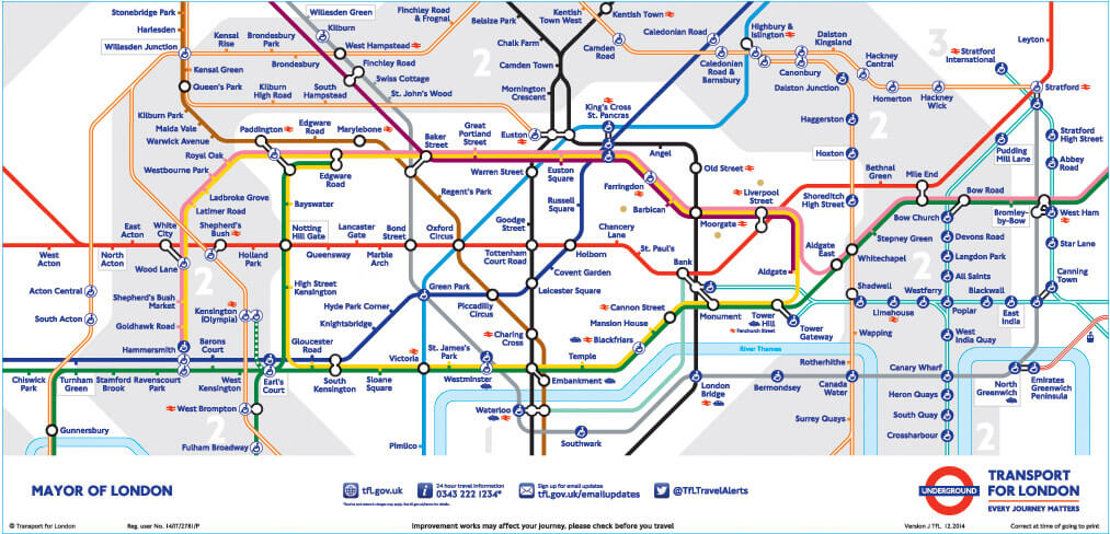 map from london underground location map