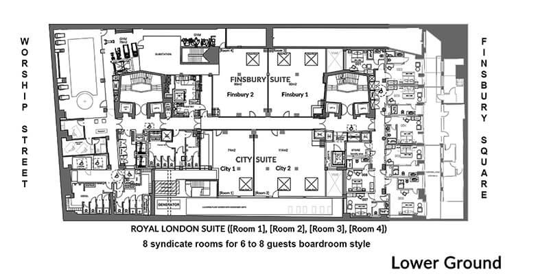 Montcalm Royal London House Hotel lower Ground Floorplans