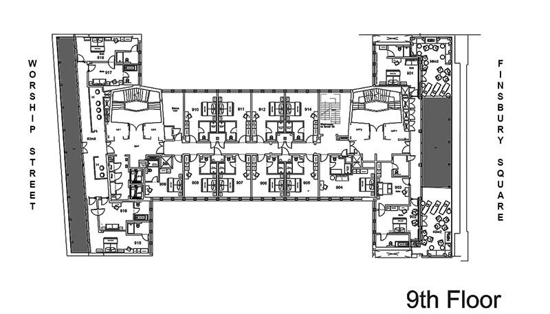 Montcalm Royal London House Hotel 9th Floor Floorplans
